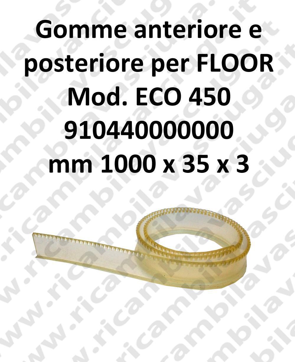 FLOOR goma de secado delantera y trasero para ECO 450