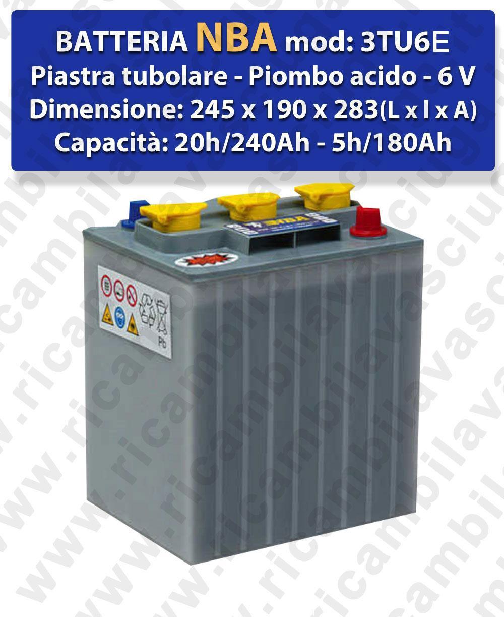 3TU6E Batteria piombo - NBA 6V 240Ah 20/h