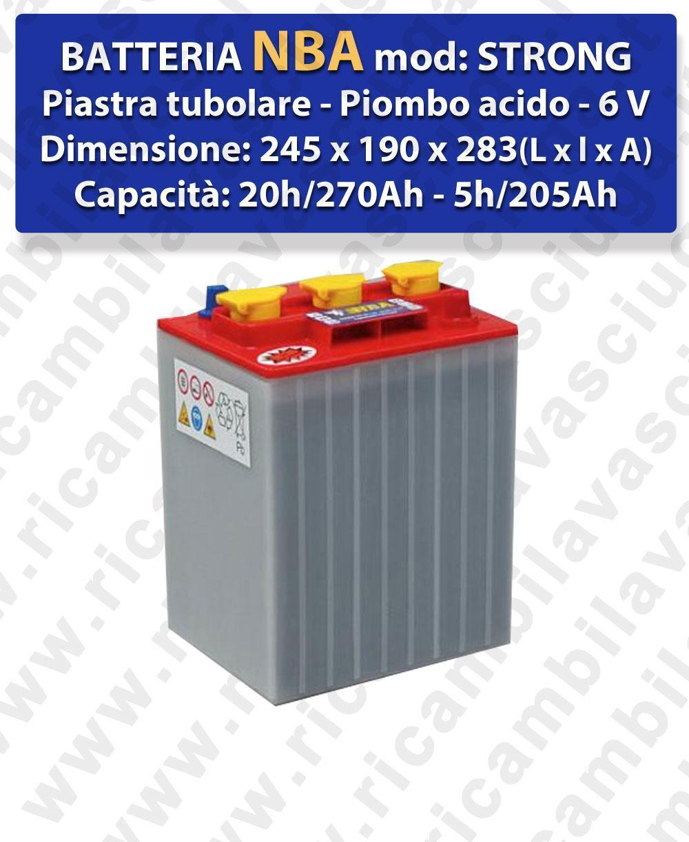 STRONG Batteria piombo - NBA 6V 270Ah 20/h