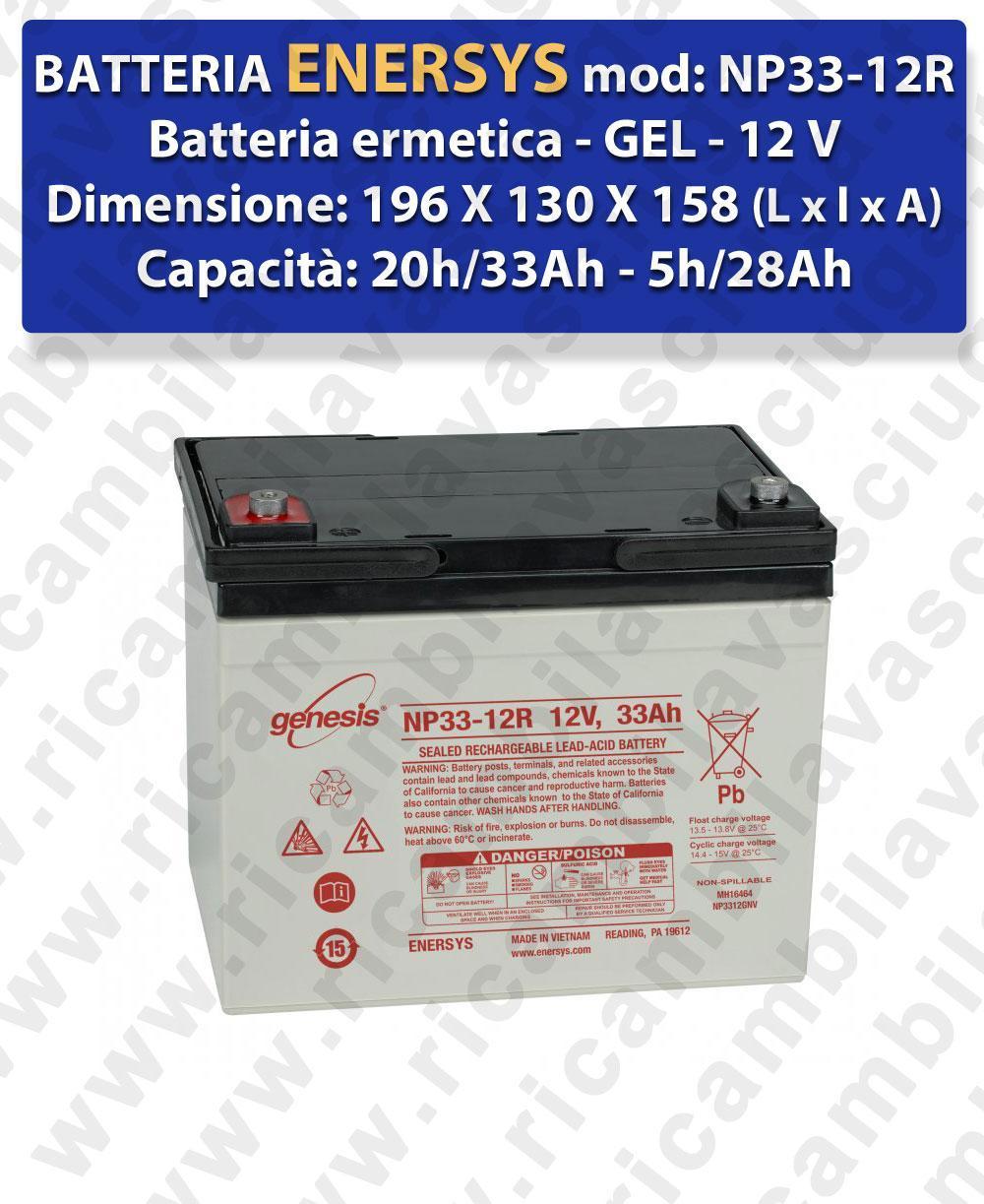 NP33-12R Batteria  GEL  - ENERSYS - 12V 33Ah 20/h