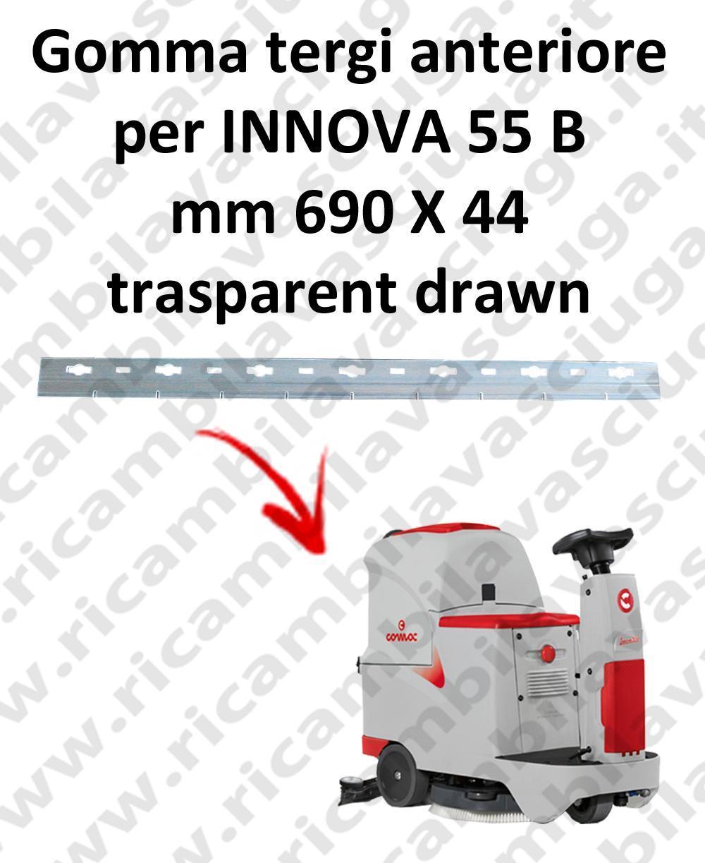 INNOVA 55 B goma de secado delantera para COMAC repuestos fregadoras squeegee
