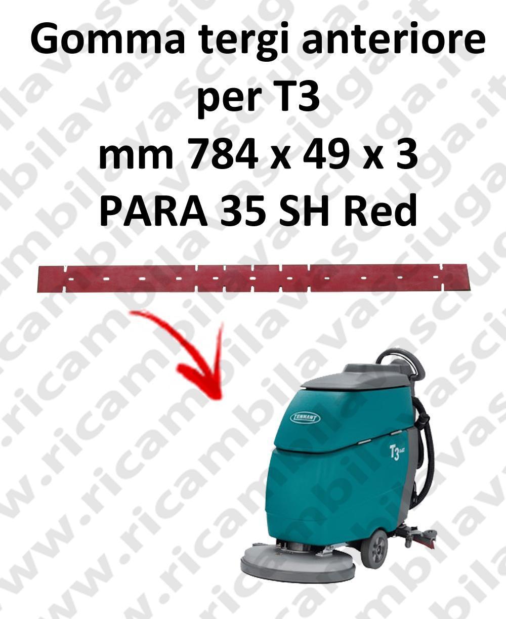 T3 goma de secado delantera para TENNANT repuestos fregadoras squeegee