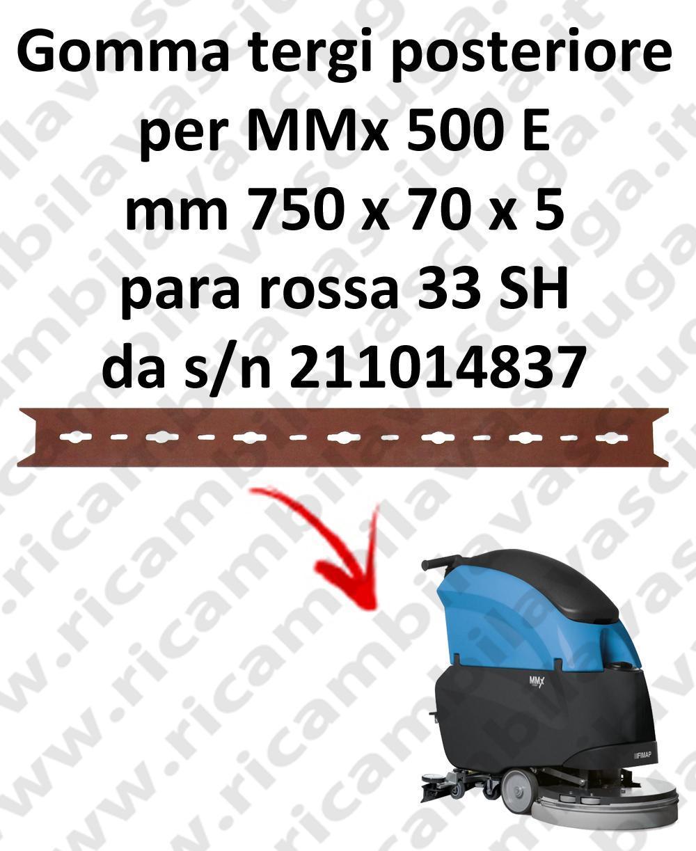 MMx 500 y goma de secado trasero para FIMAP  repuestos fregadoras squeegee