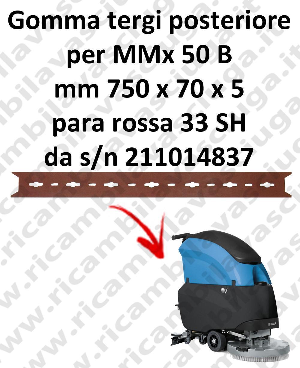 MMx 50 B goma de secado trasero para FIMAP  repuestos fregadoras squeegee