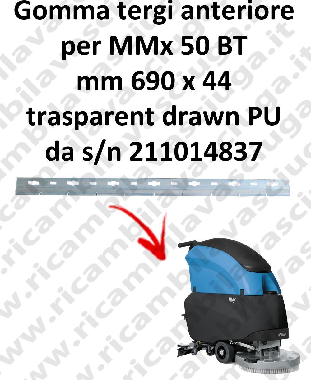 MMx 50 BT goma de secado delantera para FIMAP repuestos fregadoras squeegee