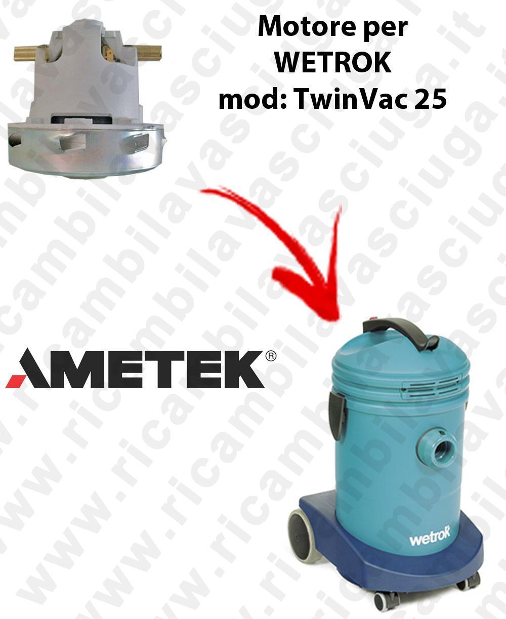 TWINVAC 25  Motore de aspiración AMETEK para aspiradora WETROK
