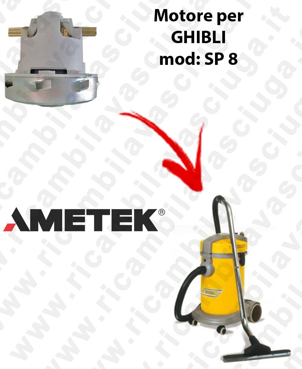 SP 8  Motore de aspiración AMETEK para aspiradora GHIBLI