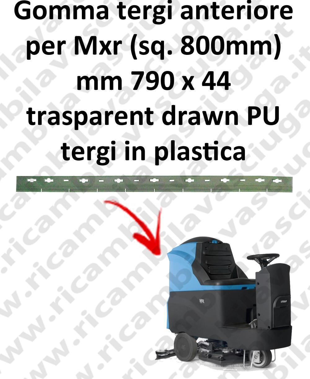 Mxr squeegee 800 mm goma de secado delantera para FIMAP repuestos fregadoras squeege