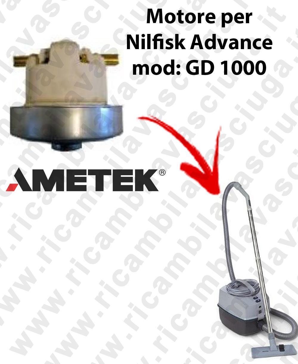 GD 1000  Motore de aspiración AMETEK  para aspiradora Nilfisk Advance