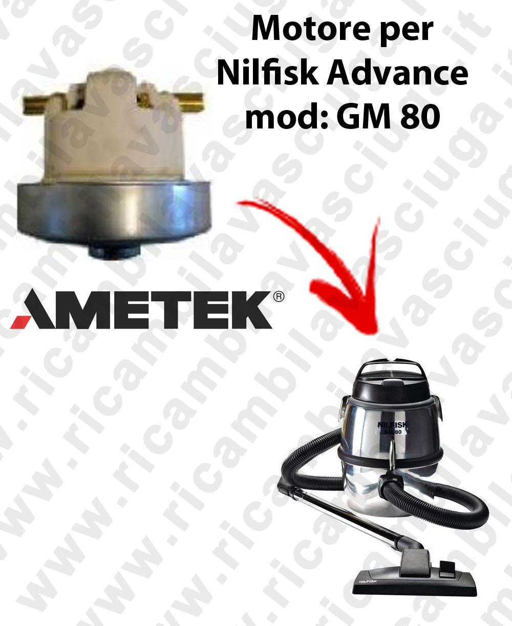 GM 80  Motore de aspiración AMETEK  para aspiradora Nilfisk Advance