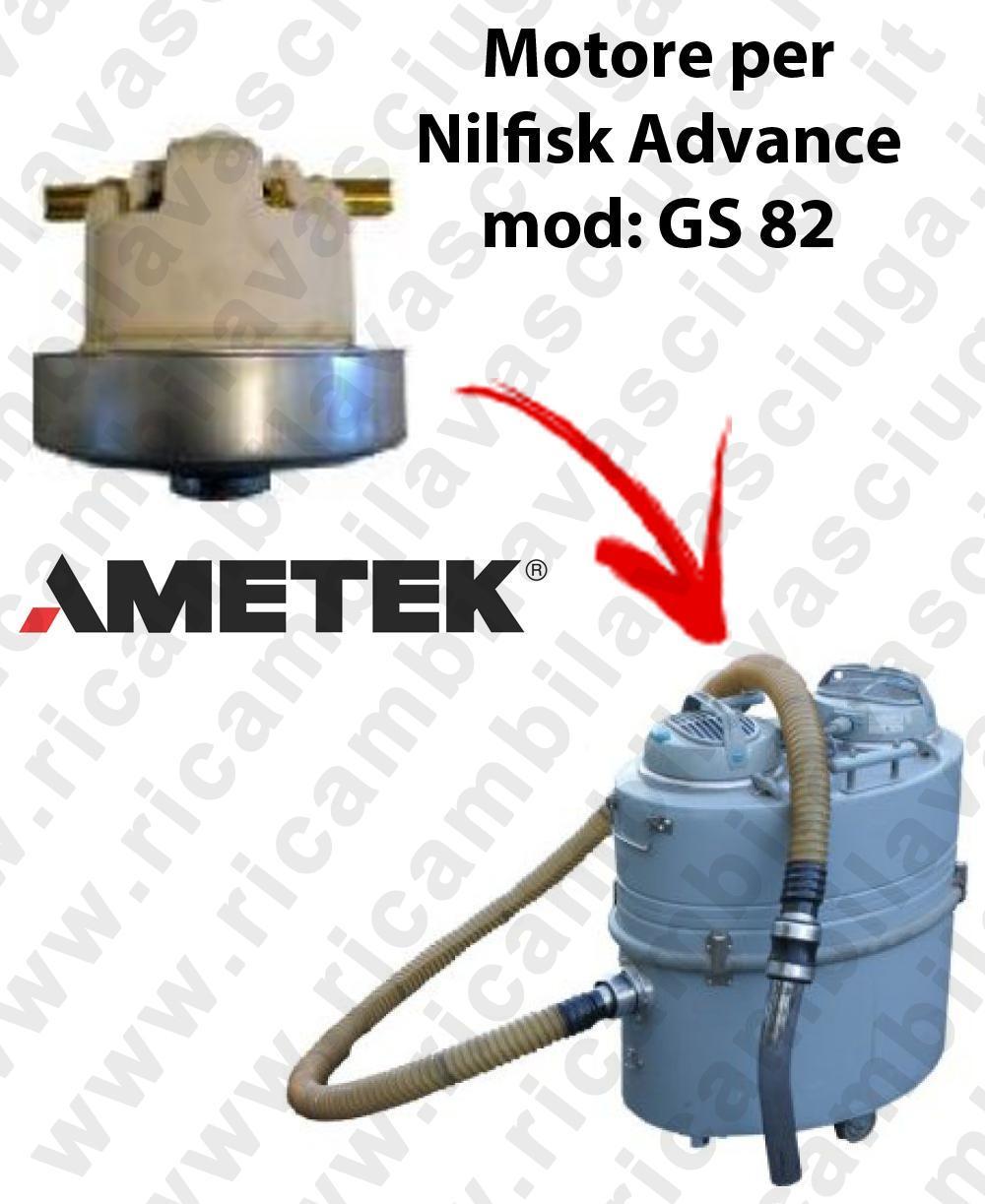 GS 82  Motore de aspiración AMETEK  para aspiradora Nilfisk Advance