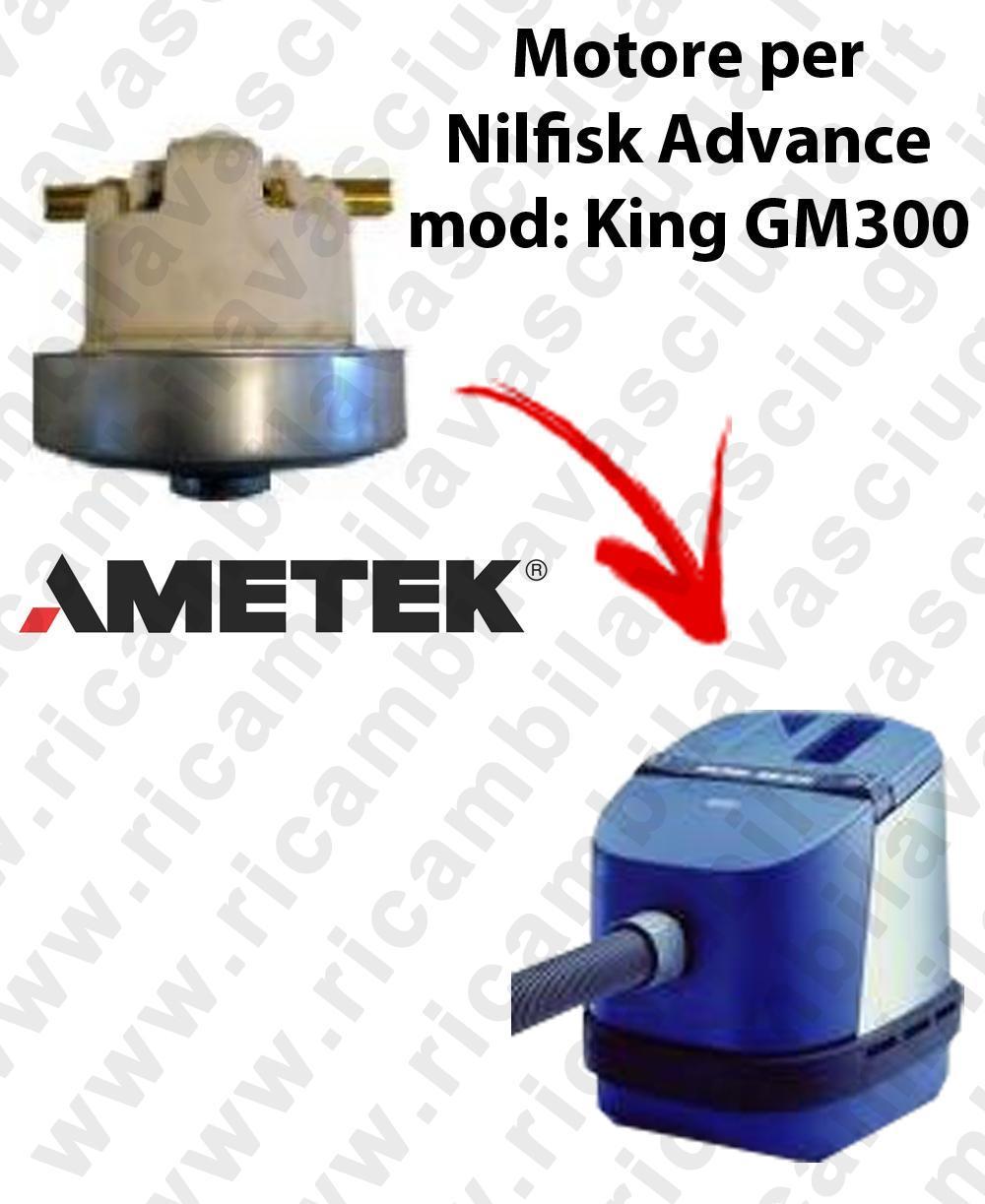 KING GM 300  Motore de aspiración AMETEK  para aspiradora Nilfisk Advance