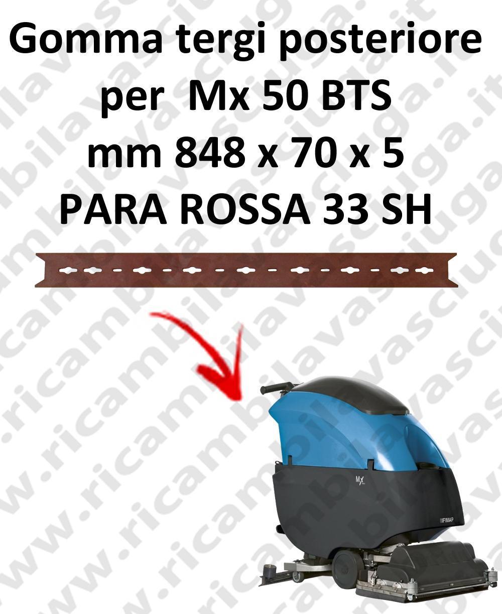 Mx 50 BTS goma de secado trasero para FIMAP repuestos fregadoras squeegee