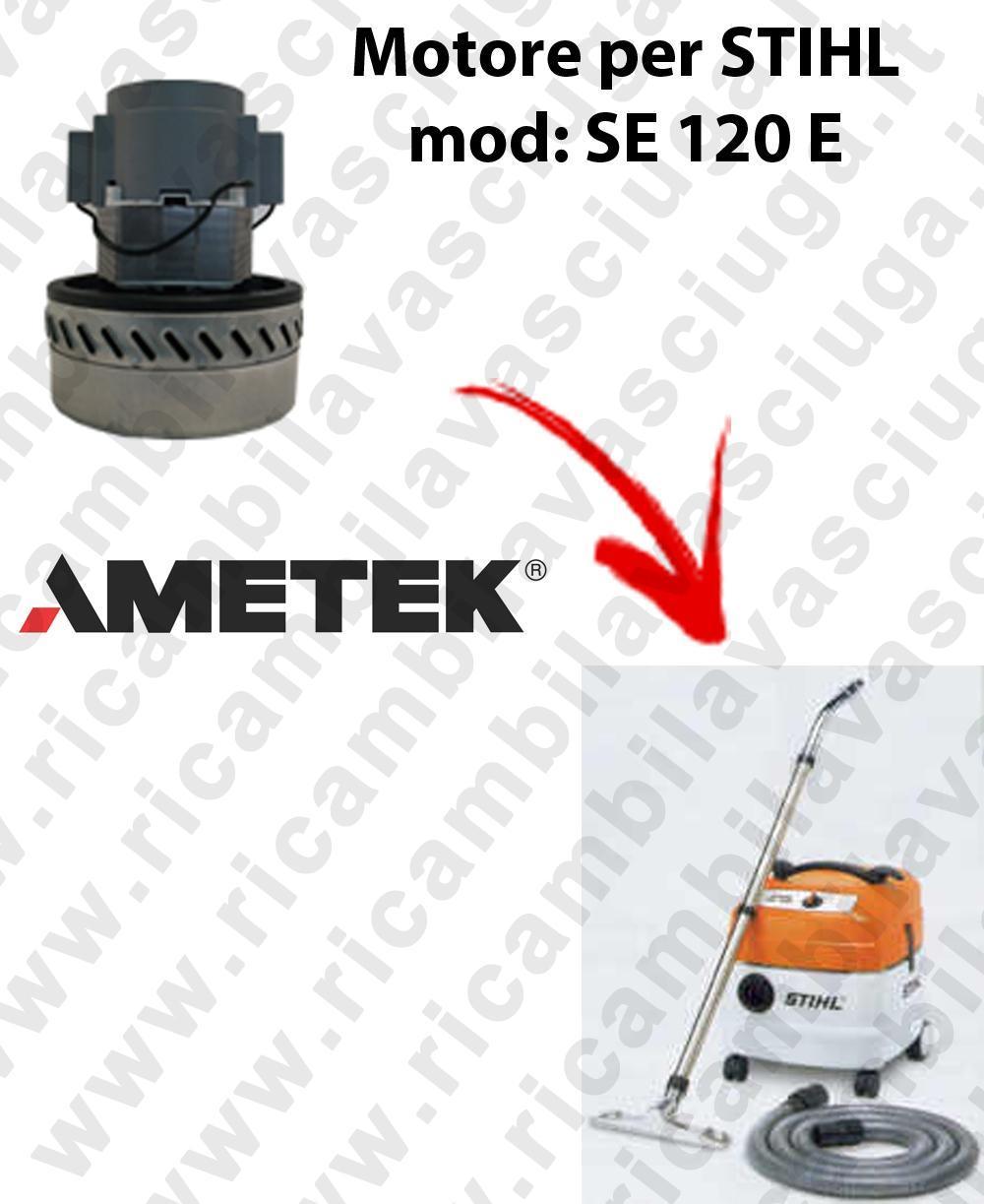 SE 120 y Motore de aspiración AMETEK  para aspiradora STIHL