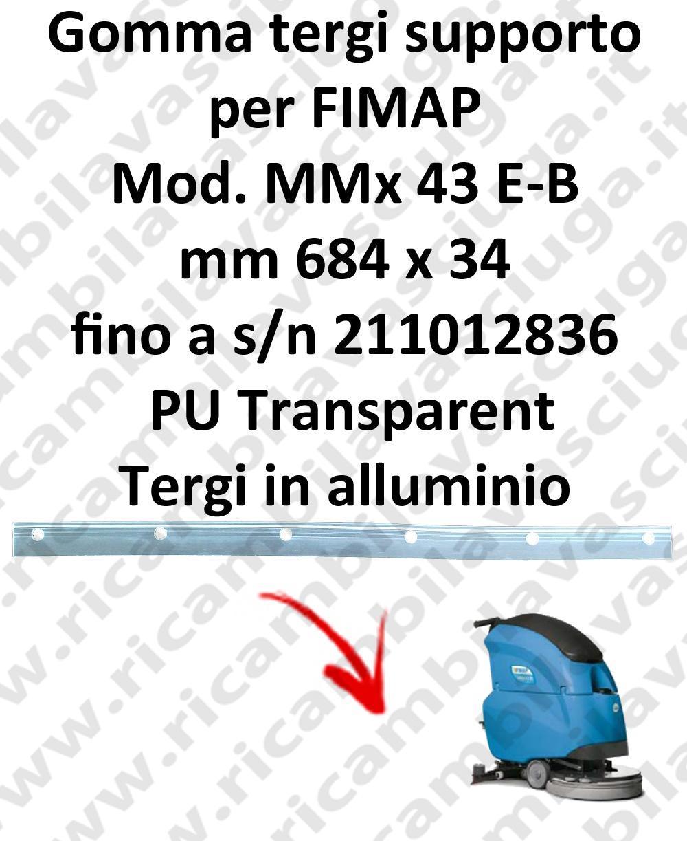 MMx 43 y fino a s/n 211012836 goma de secado soporte para FIMAP repuestos fregadoras squeegee