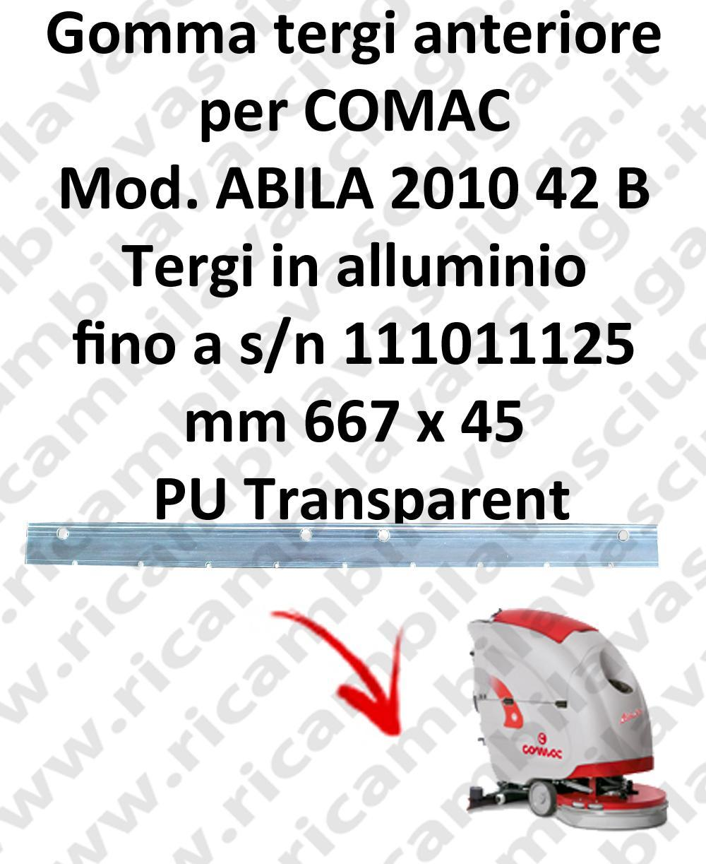 ABILA 2010 42 B - BT fino a s/n 111011125 goma de secado delantera para COMAC repuestos fregadoras squeegee