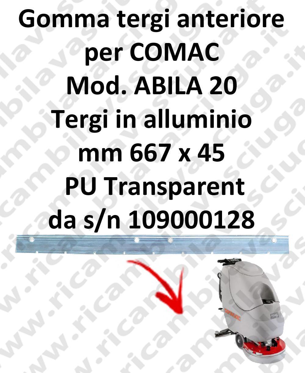 ABILA 20 da s/n 109000128 goma de secado delantera para COMAC repuestos fregadoras squeegee