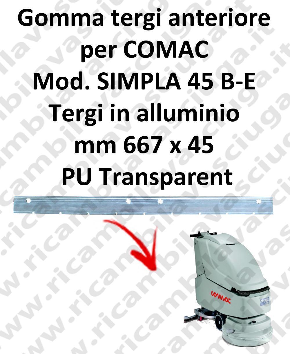 SIMPLA 45 B - E goma de secado delantera para COMAC repuestos fregadoras squeegee