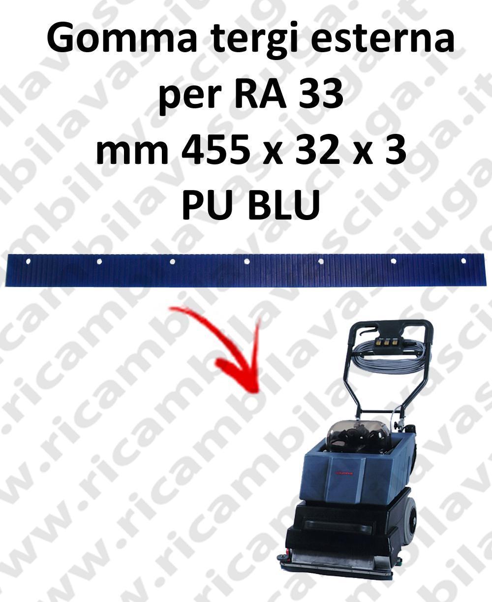 RA 33  goma de secado esterna para COLUMBUS repuestos fregadoras squeegee