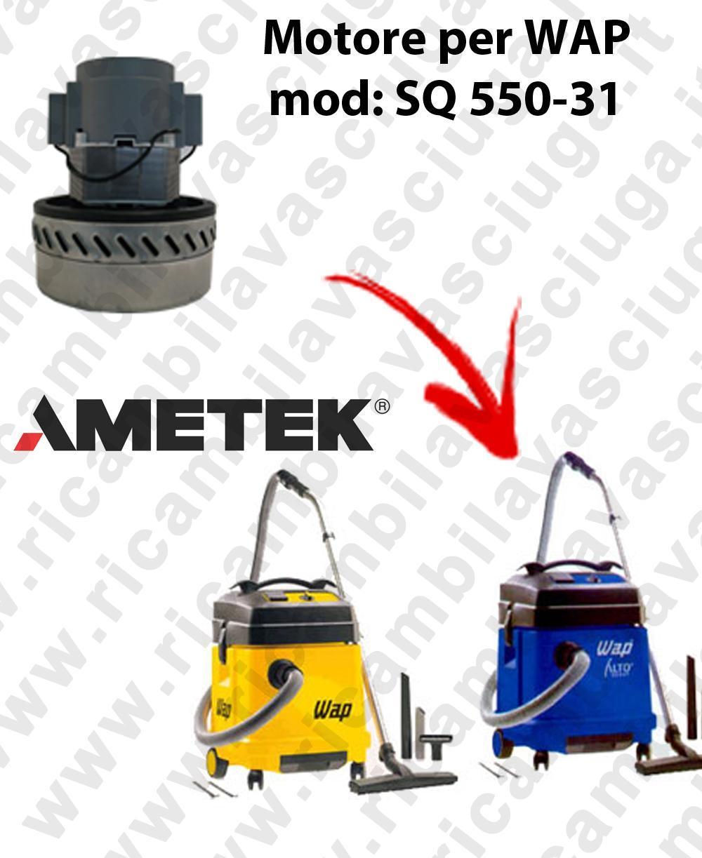SQ 550 - 31 Motore de aspiración AMETEK  para aspiradora WAP