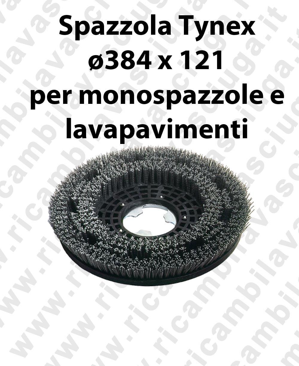 Cepillo TYNEX. Dimensiones ø 384 X 121 valida para fregadora, Monodisco (17 pulgada) y spazzatrici