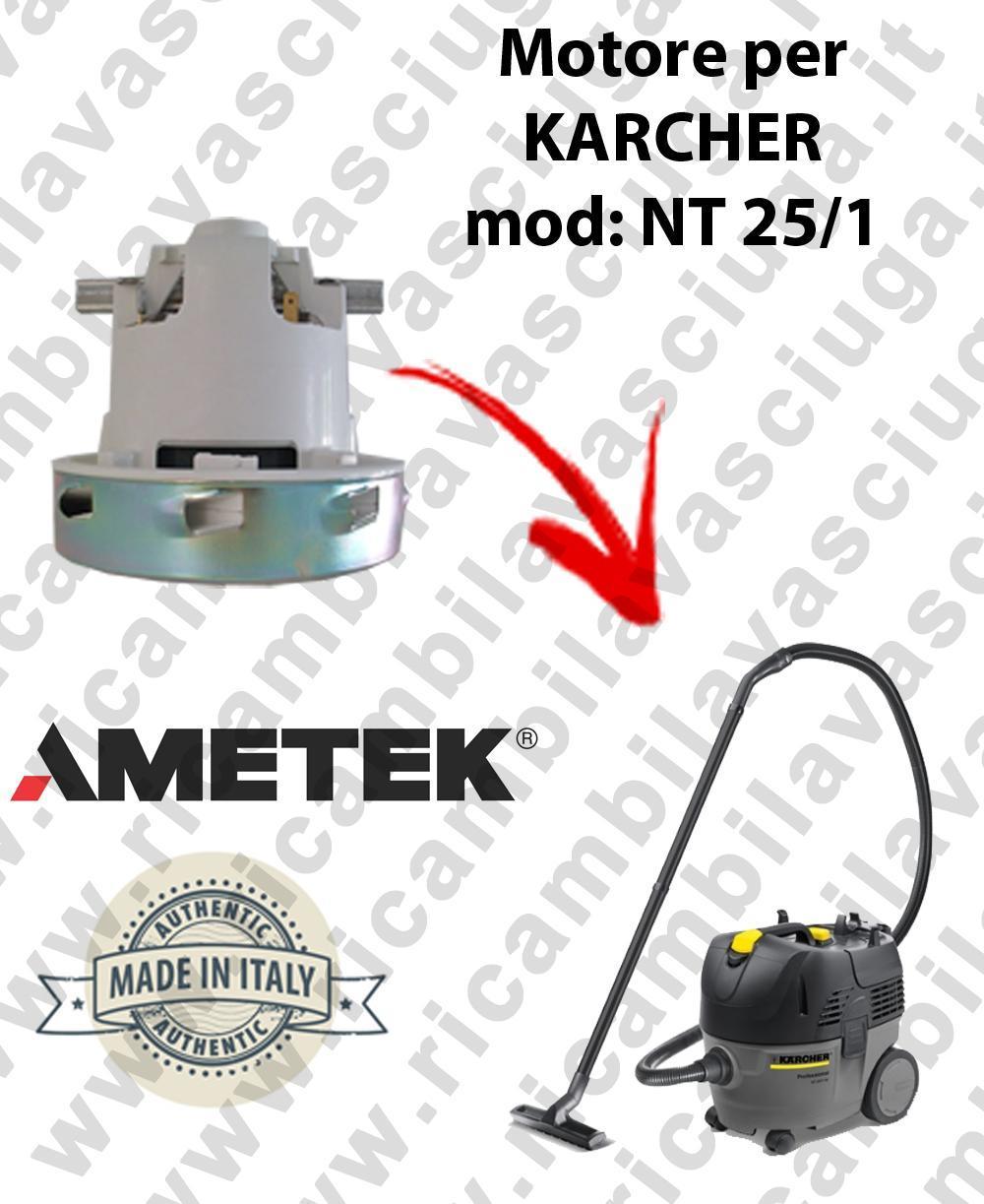 NT 25/1  Motore de aspiración AMETEK  para aspiradora KARCHER