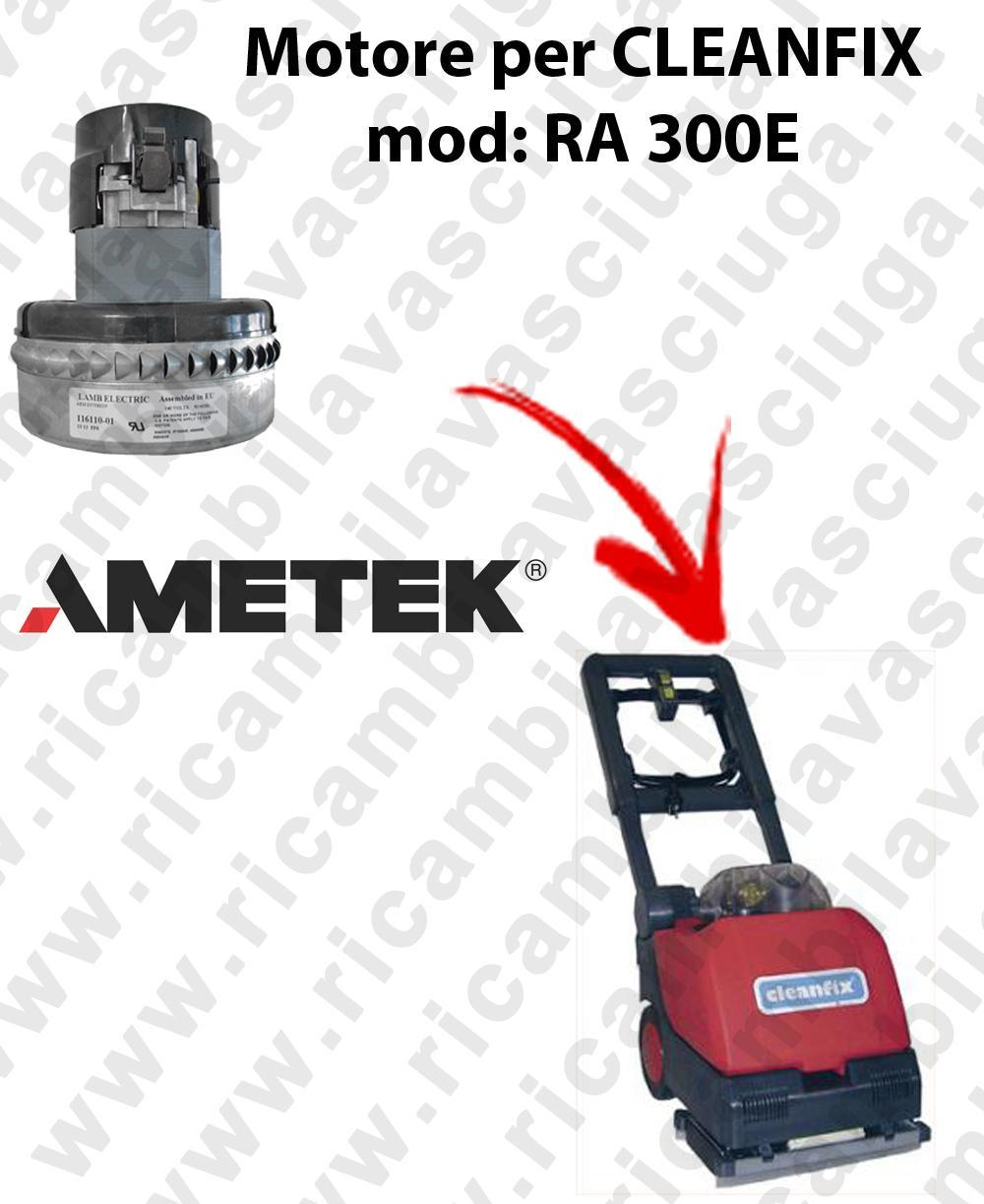 RA 300E  Motore de aspiración AMETEK para fregadora CLEANFIX