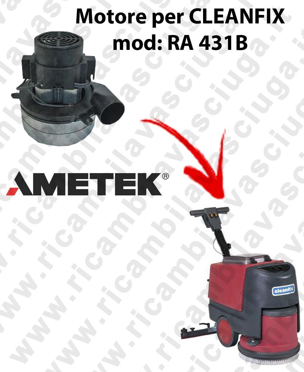 RA 431B Motore de aspiración Ametek Italia  para fregadora CLEANFIX