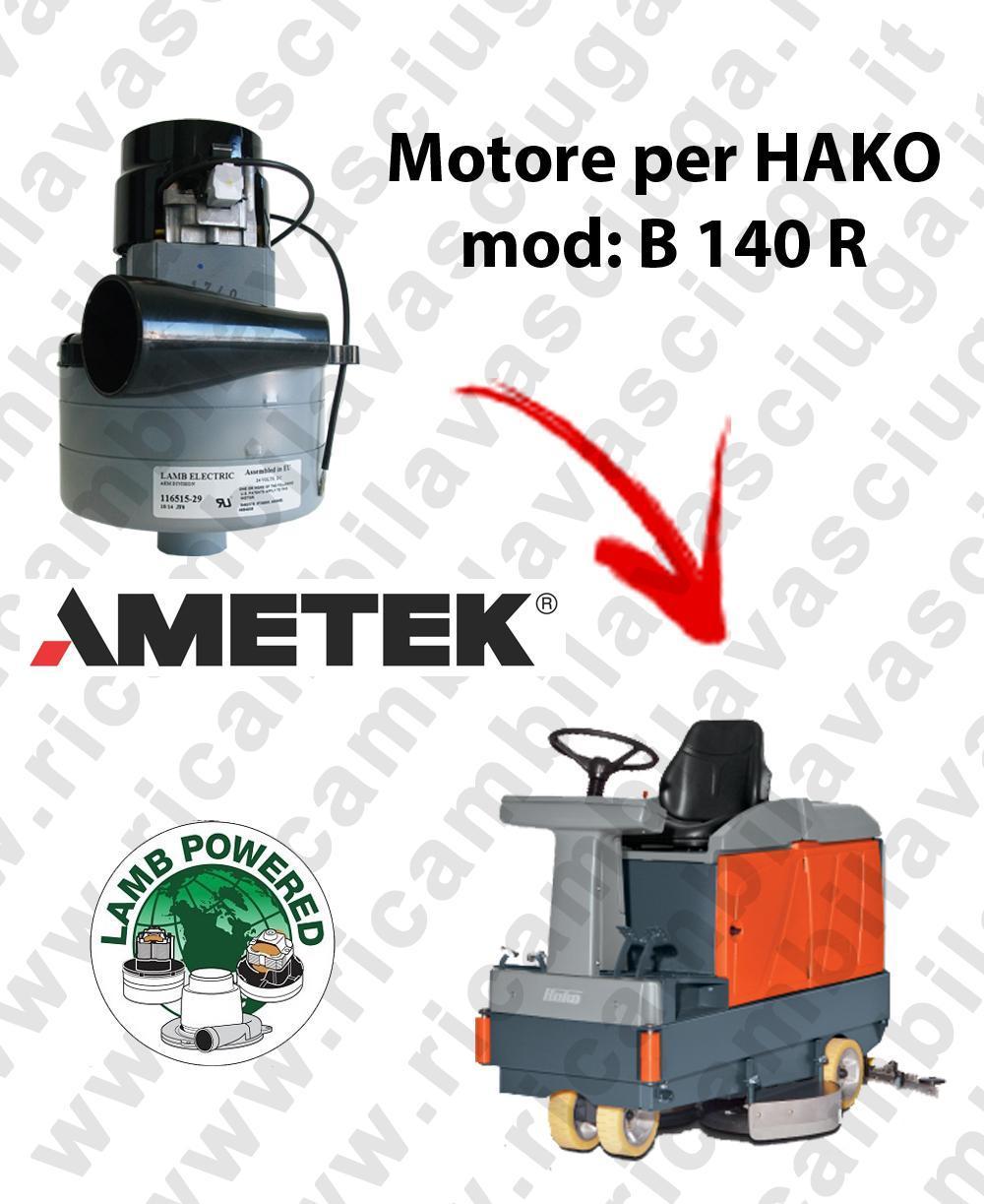 B 140 R Motore de aspiración LAMB AMETEK para fregadora HAKO