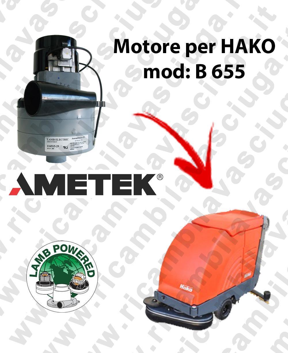 B 655 Motore de aspiración LAMB AMETEK para fregadora HAKO