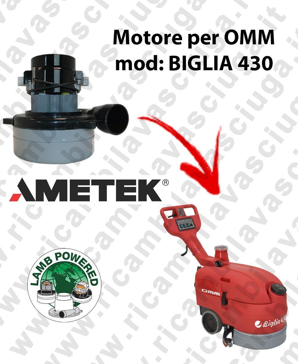 BIGLIA 430 Motore de aspiración LAMB AMETEK para fregadora OMM