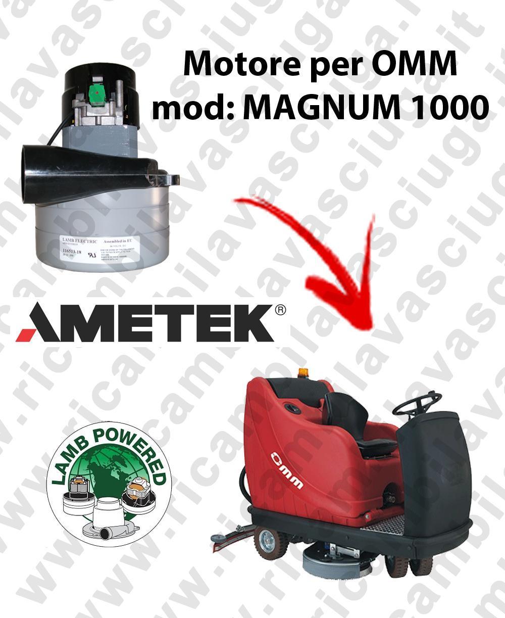 MAGNUM 1000 Motore de aspiración LAMB AMETEK para fregadora OMM