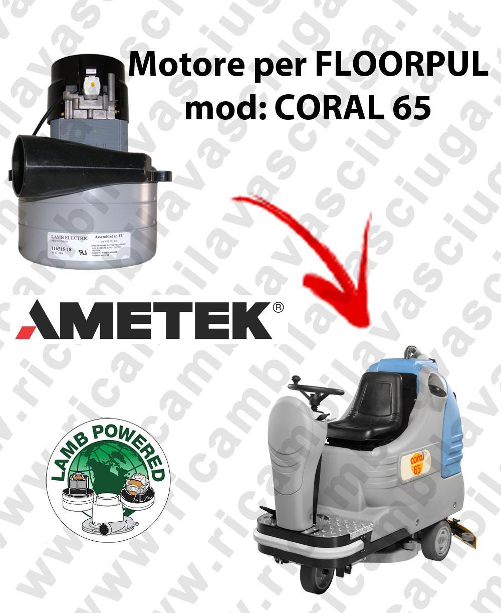 CORAL 65 Motore de aspiración LAMB AMETEK para fregadora FLOORPUL