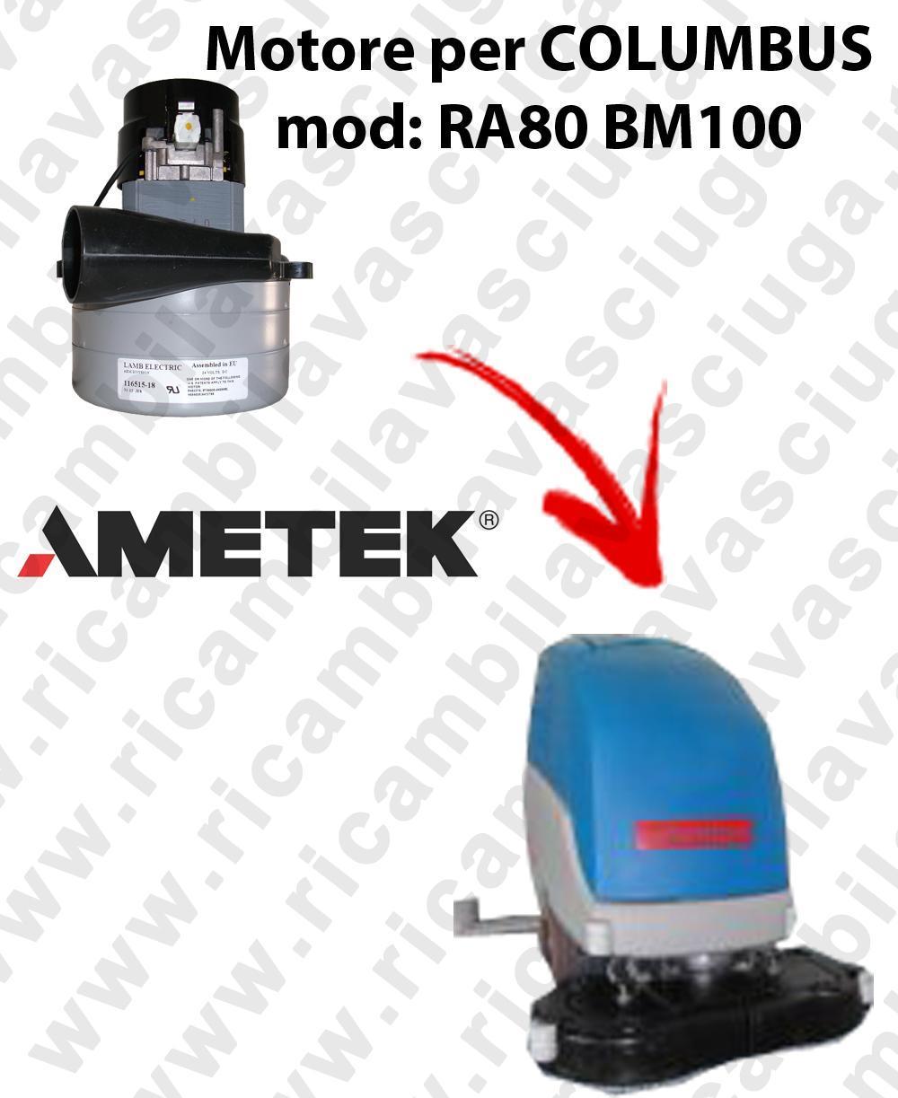RA80 BM100 Motore de aspiración LAMB AMETEK para fregadora COLUMBUS