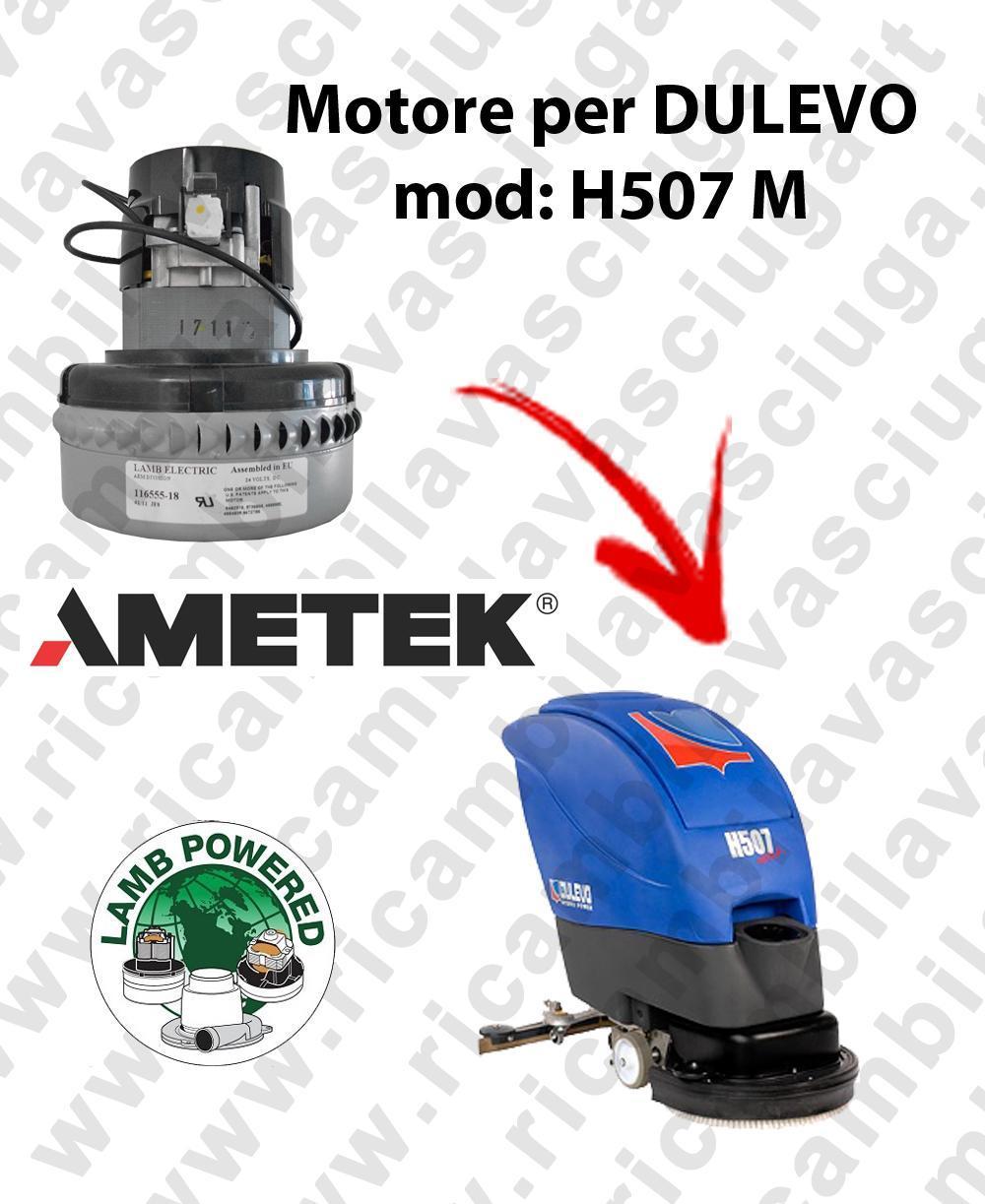 H507 M Motore de aspiración LAMB AMETEK para fregadora DULEVO
