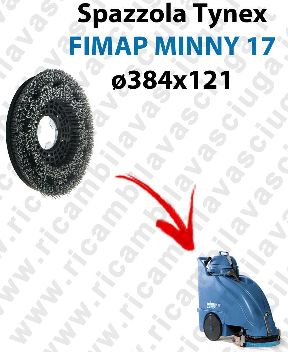 Cepillo TYNEX  para fregadora FIMAP MINNY 17. modelo: tynex  ø 384 X 121