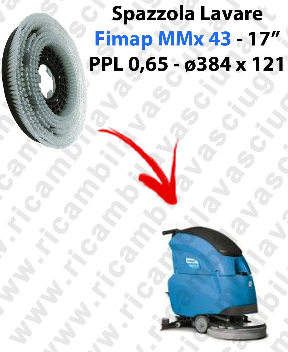 CEPILLO DE LAVADO  para fregadora FIMAP MMX43. modelo: PPL 0,65  ø384 X 121