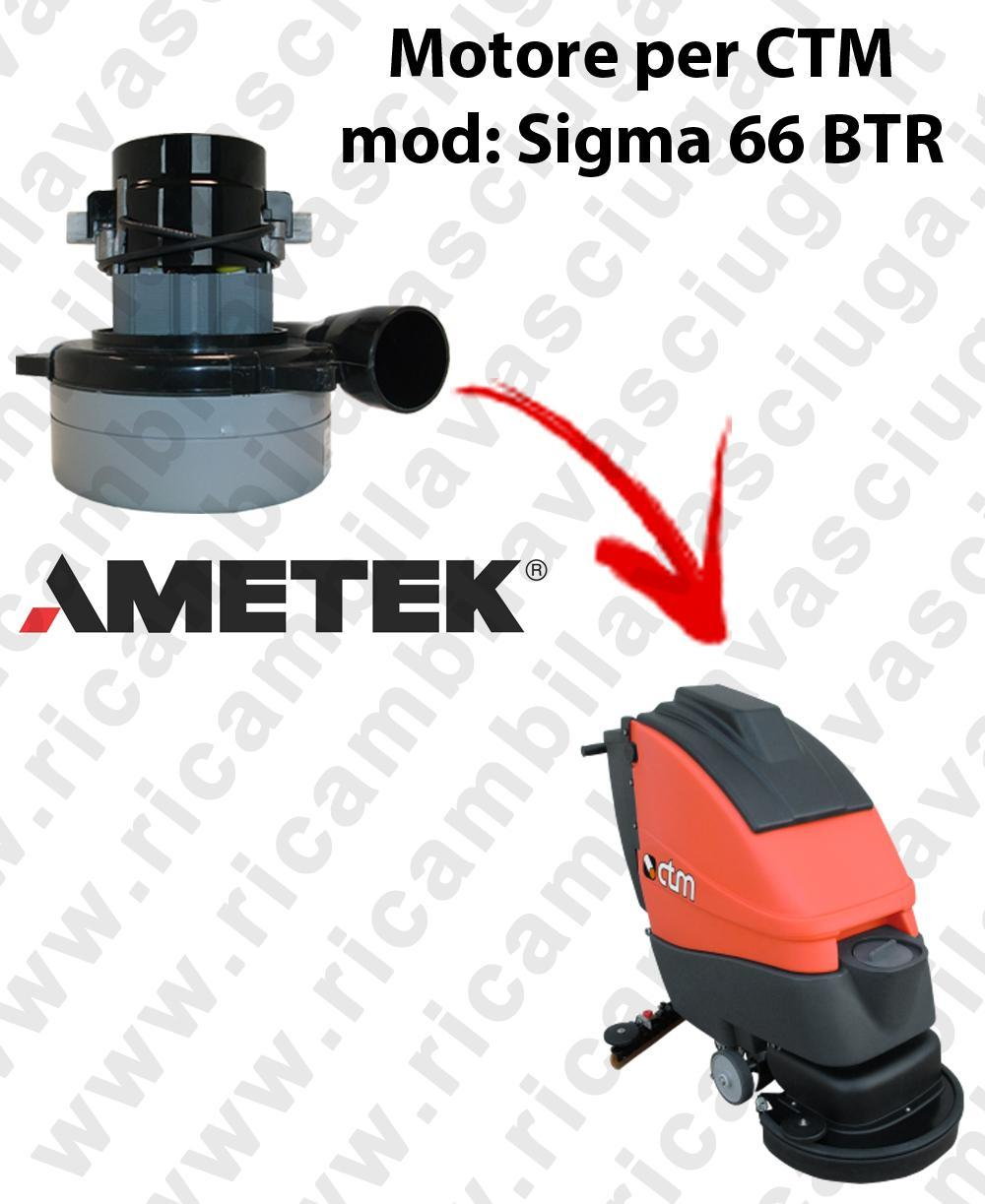 SIGMA 66 BTR Motore de aspiración LAMB AMETEK para fregadora CTM