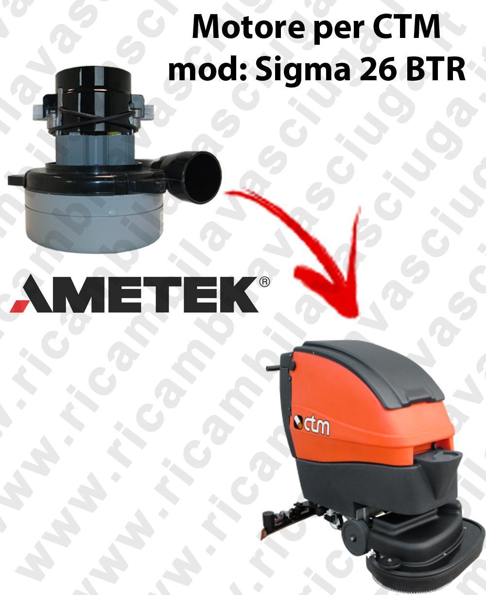 SIGMA 26 BTR Motore de aspiración LAMB AMETEK para fregadora CTM