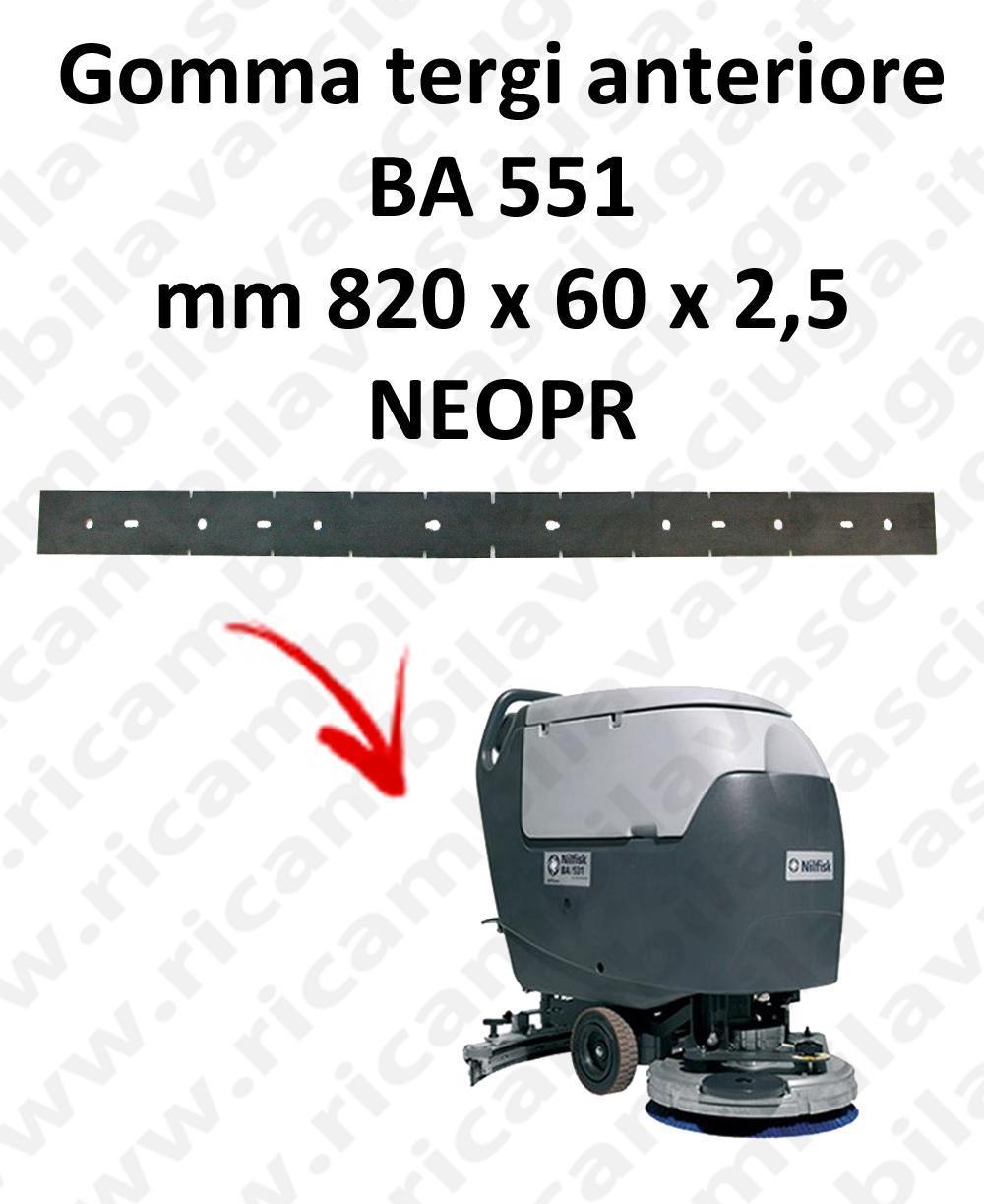 BA 551 goma de secado delantera para escobilla de goma Nilfisk