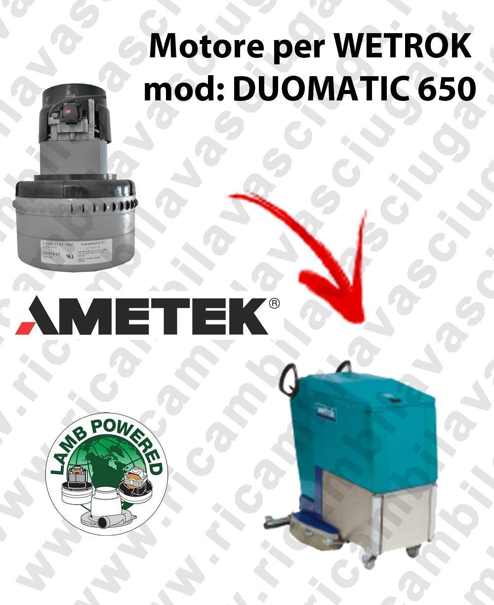 DUOMATIC 650 Motore de aspiración LAMB AMETEK para fregadora WETROK