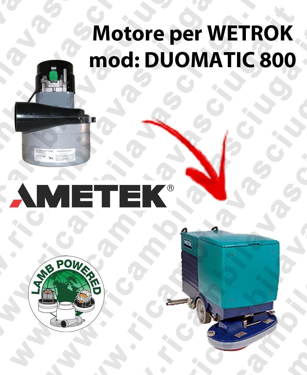 DUOMATIC 800 Motore de aspiración LAMB AMETEK para fregadora WETROK
