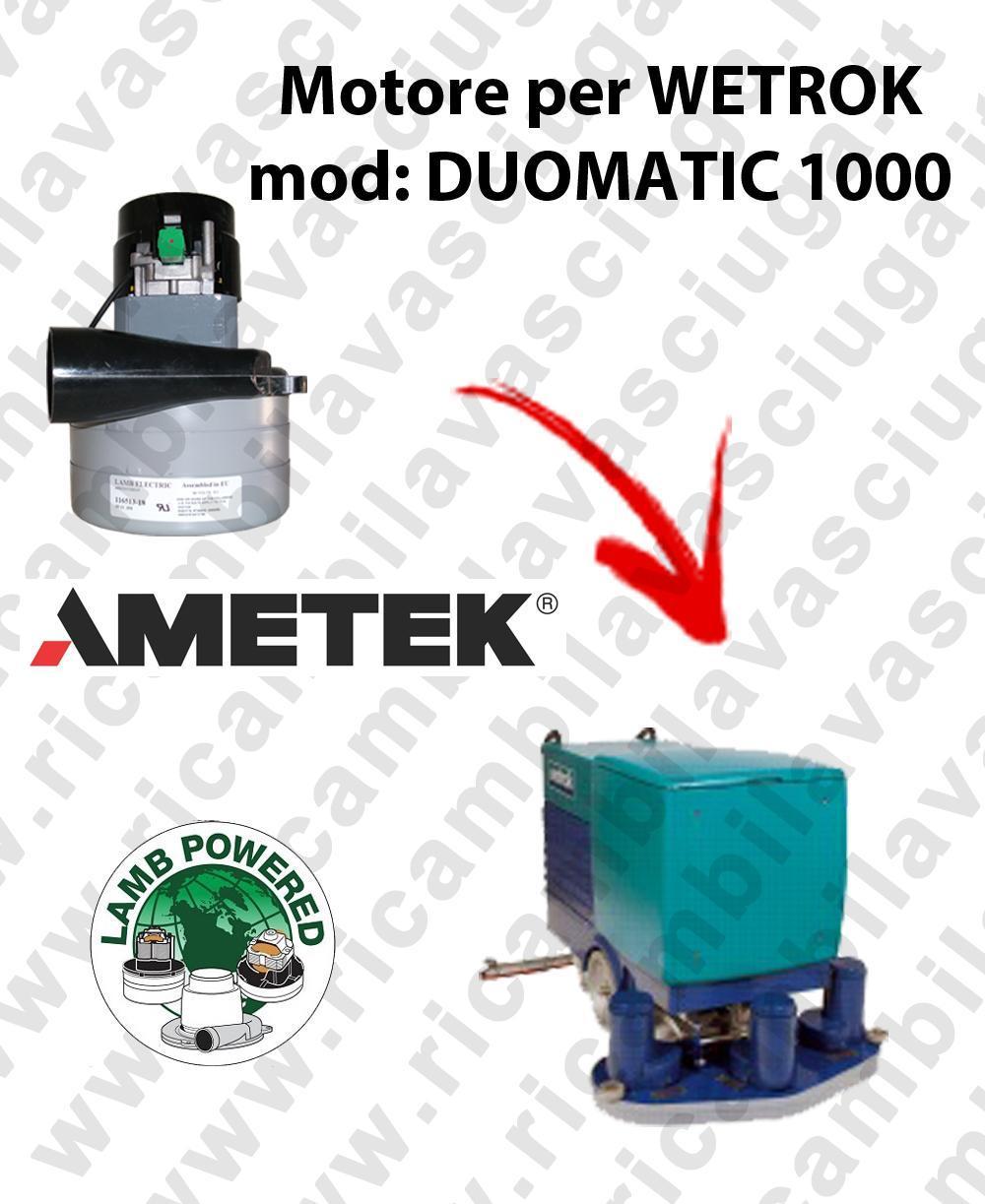 DUOMATIC 1000 Motore de aspiración LAMB AMETEK para fregadora WETROK