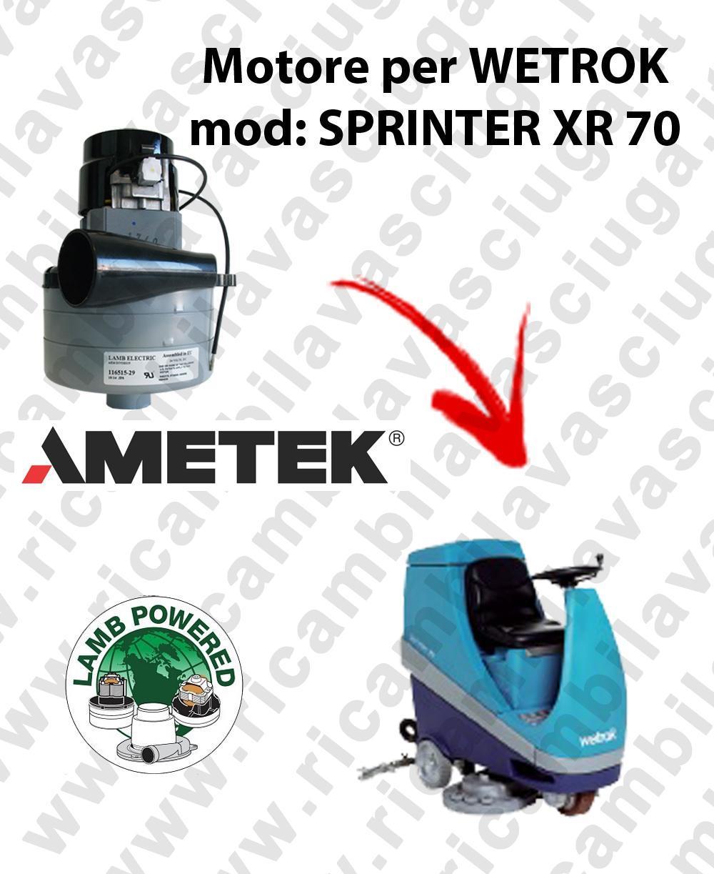 SPRINTER XR 70 Motore de aspiración LAMB AMETEK para fregadora WETROK