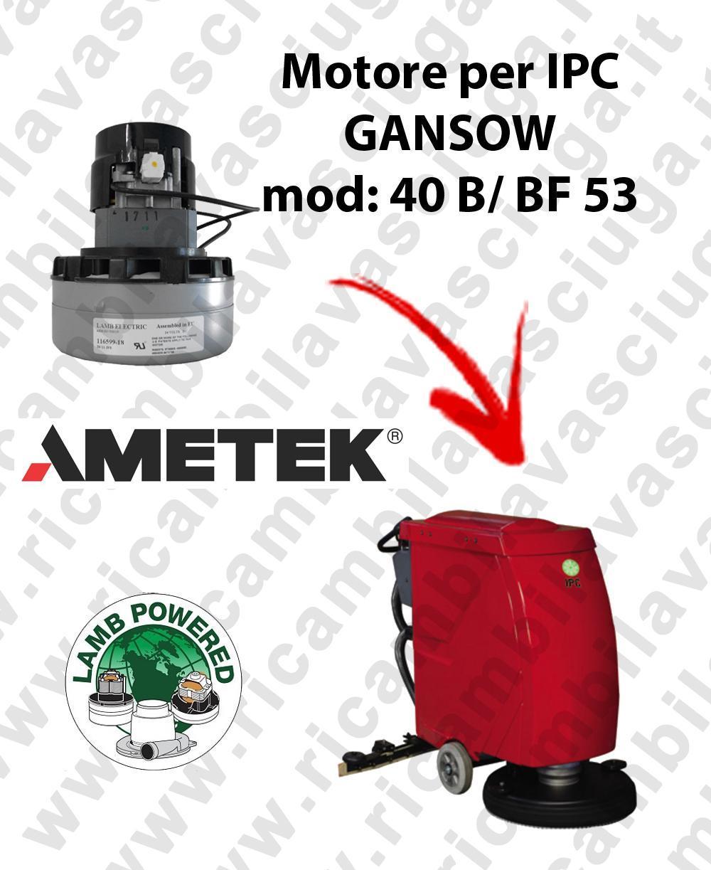 40 B/BF 53 Motore de aspiración LAMB AMETEK para fregadora IPC GANSOW