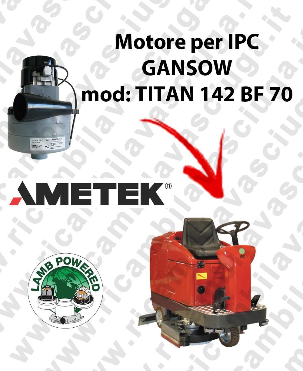 TITAN 142 BF 70 Motore de aspiración LAMB AMETEK para fregadora IPC GANSOW