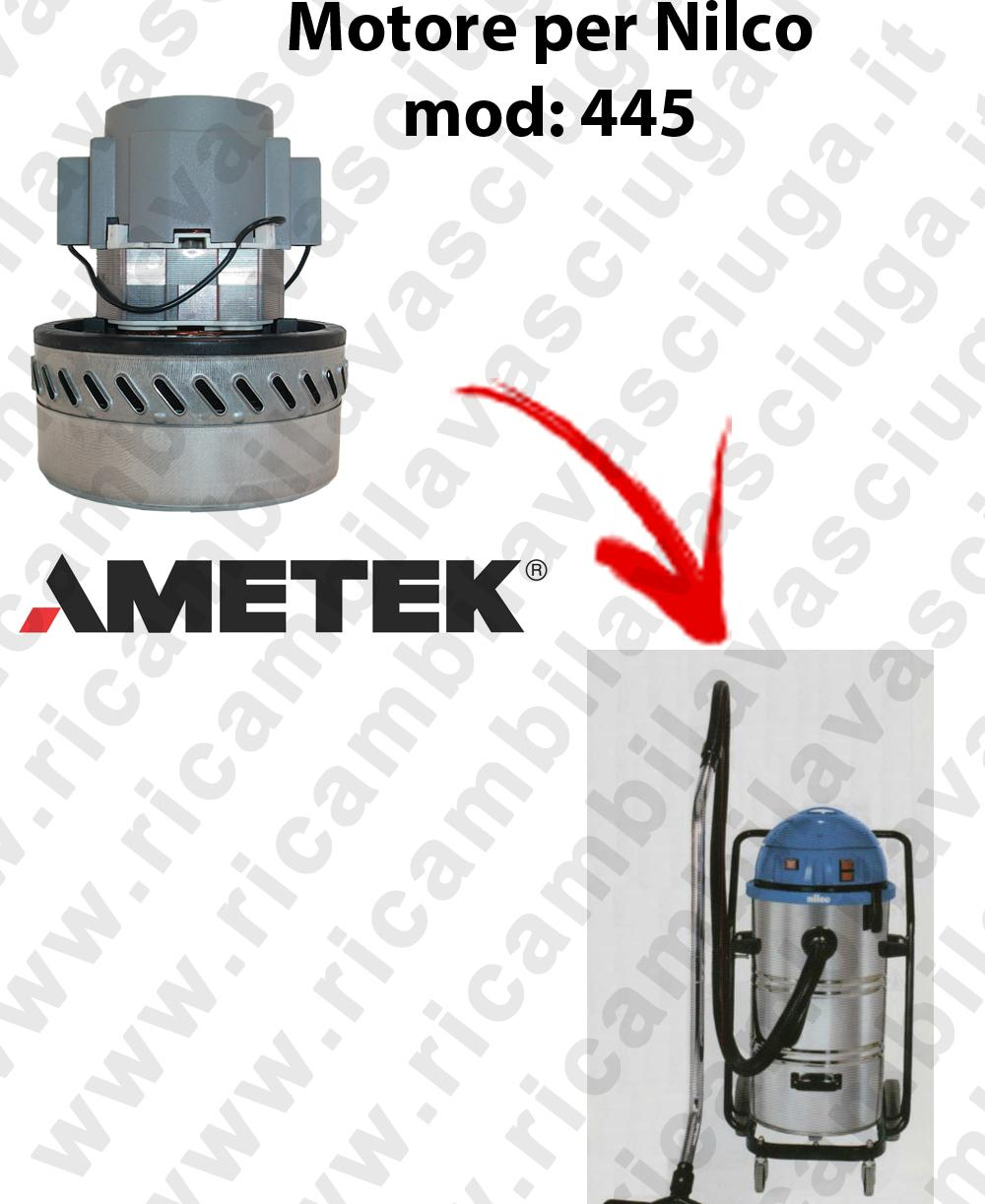 445 Motore de aspiración AMETEK para aspiradora NILCO-2