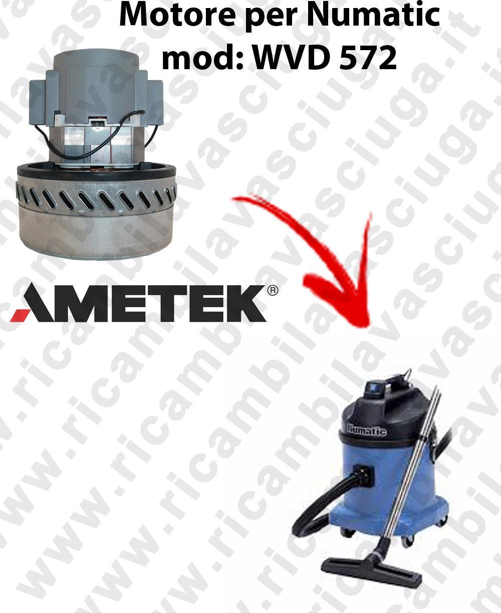 WVD 572  Motore de aspiración AMETEK para aspiradora NUMATIC