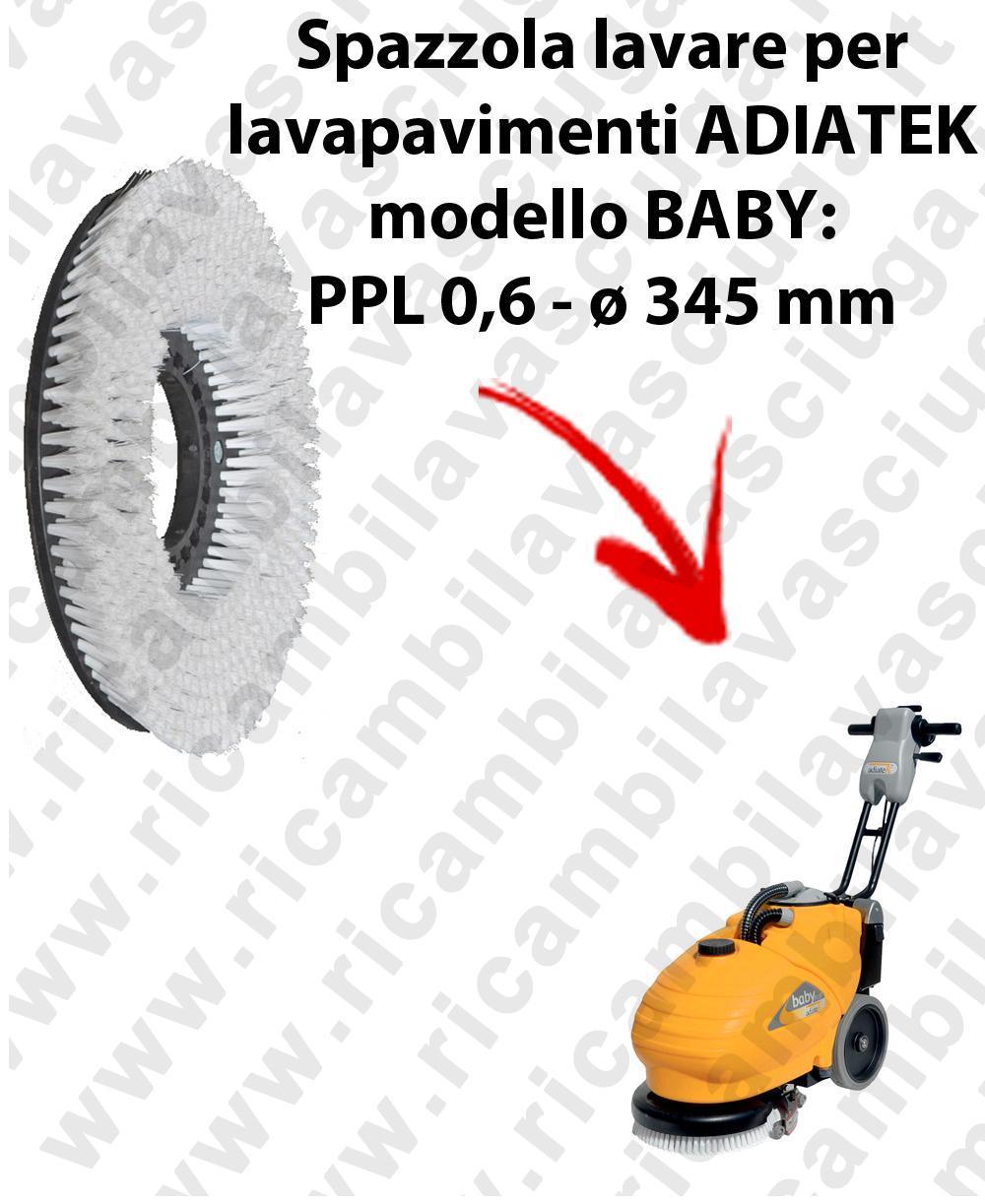 CEPILLO DE LAVADO  para fregadora ADIATEK BABY. modelo IN PPL 0,65  ø 345