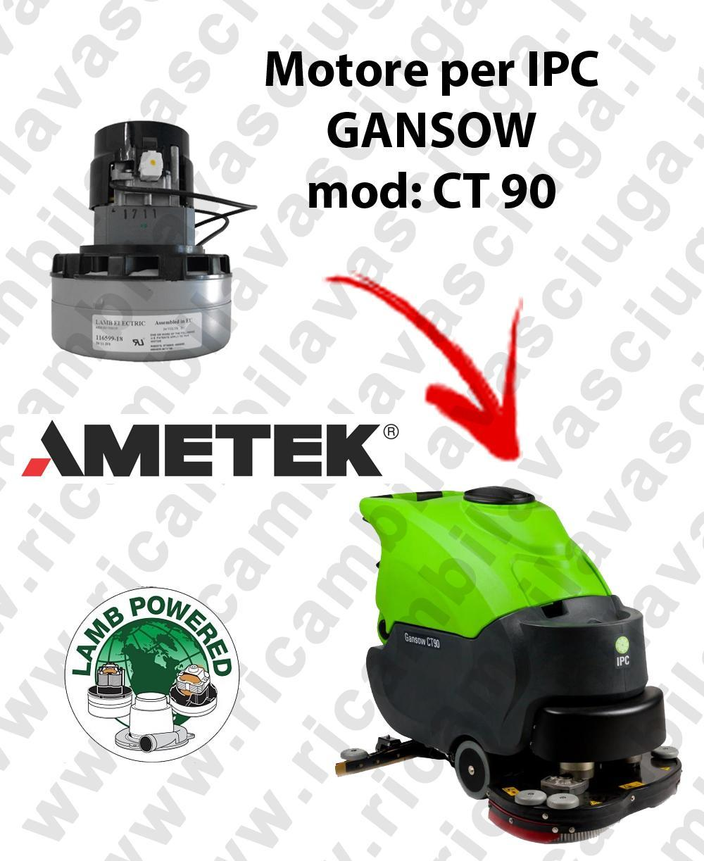 CT 90 Motore de aspiración LAMB AMETEK para fregadora IPC GANSOW